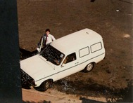 ROGER WHITE and his little van.