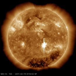 solar flare 17 feb