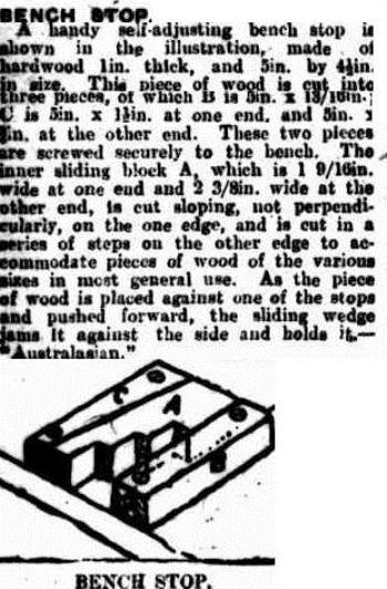 bench stop The Queenslander (Brisbane, Qld 1866-1939), Saturday 10 March 1923,