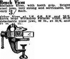 bench vice The Advertiser (Adelaide, SA 1889-1931), Tuesday 15 April 1930