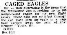 CAGED EAGLES The Argus (Melbourne, Vic. 1848-1954), Tuesday 7 May 1940