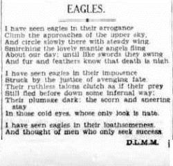 EAGLES The Sydney Morning Herald (NSW 1842-1954), Saturday 21 January 1933