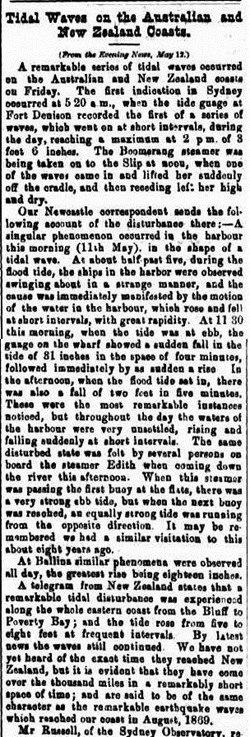 TIDAL AUST NSThe Maitland Mercury & Hunter River General Advertiser (NSW  1843-1893), Tuesday 15 May 1877,