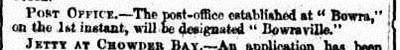 BOWRA PO The Sydney Morning Herald (NSW 1842-1954), Saturday 6 August 1870 2