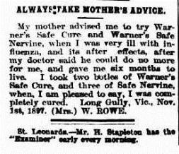 Launceston Examiner (Tas.  1842-1899), Saturday 19 March 1898