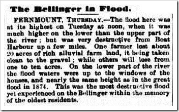 bello flood Clarence and Richmond Examiner (Grafton, NSW  1889-1915), Saturday 15 March 1890