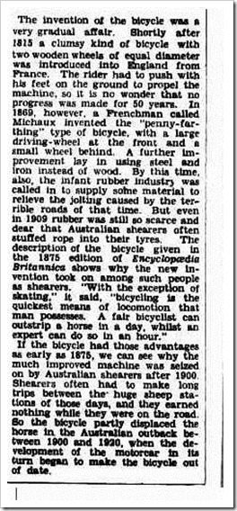 bike The Argus (Melbourne, Vic.  1848-1954), Saturday 1 September 1945