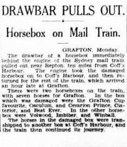 horsebox The Sydney Morning Herald (NSW 1842 - 1954), Tuesday 14 July 1936,