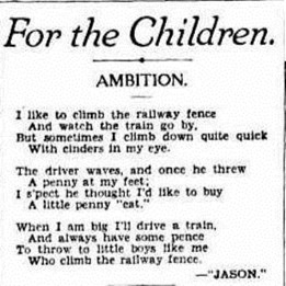 train poem The Sydney Morning Herald (NSW 1842 - 1954), Saturday 24 July 1937,