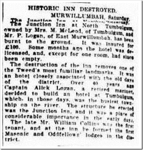 tumb inn The Sydney Morning Herald (NSW  1842-1954), Monday 6 September 1926,