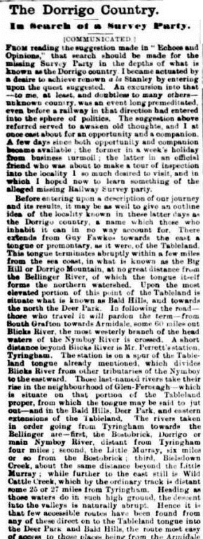 DORRIGO 3 Clarence and Richmond Examiner (Grafton, NSW  1889 - 1915), Saturday 13 June 1891