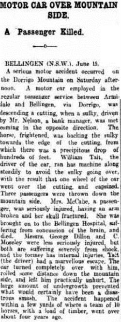 DORRIGO The Register (Adelaide, SA 1901 - 1929), Tuesday 16 June 1914