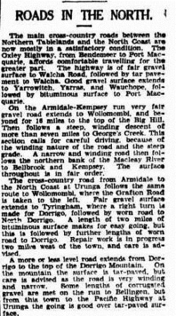 roads The Sydney Morning Herald (NSW  1842 - 1954), Friday 17 November 1939