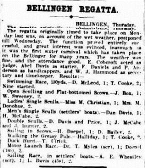 REGATTA The Sydney Morning Herald (NSW  1842 - 1954), Friday 6 January 1911,