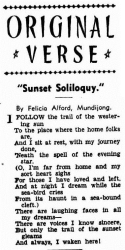 SUNSET Western Mail (Perth, WA  1885 - 1954), Thursday 28 January 1943