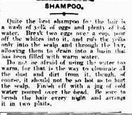 shampoo The Brisbane Courier (Qld.  864 - 1933), Wednesday 18 January 1911