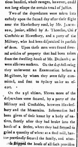 HERC ATLAS 2 The Sydney Gazette and New South Wales Advertiser (NSW  1803 - 1842), Saturday 5 March 1803,