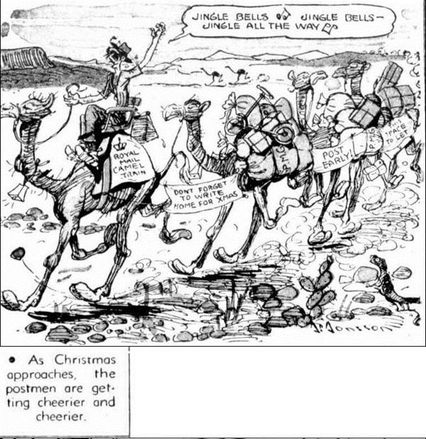 XMAS CAMELS The Mail (Adelaide, SA  1912 - 1954), Saturday 28 November 1953,