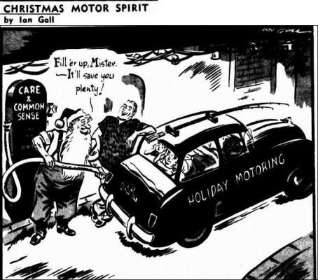XMAS PETROL The Courier-Mail (Brisbane, Qld.  1933 - 1954), Wednesday 23 December 1953,