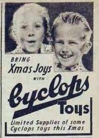 XMAS TOYS The Australian Women's Weekly (1933 - 1982), Saturday 24 November 1945, p CYCLOPS