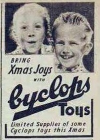 XMAS TOYS The Australian Women's Weekly (1933 - 1982), Saturday 24 November 1945, p CYCLOPS