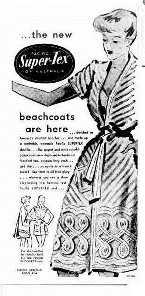 BEACH COAT The West Australian (Perth, WA 1879 - 1954), Friday 23 September 1949,