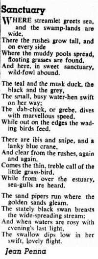 sanctuary Western Mail (Perth, WA  1885 - 1954), Thursday 4 September 1952