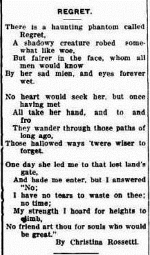 regret The Horsham Times (Vic. 1882 - 1954), Friday 27 February 1920,