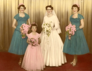 57 betty's wedding 2 mar 1957